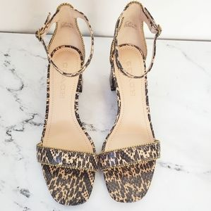 Coach Maddie Ankle Strap Reptile Sandals
